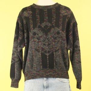 Vintage 80's 90's Grandpa Sweater Italy Medium